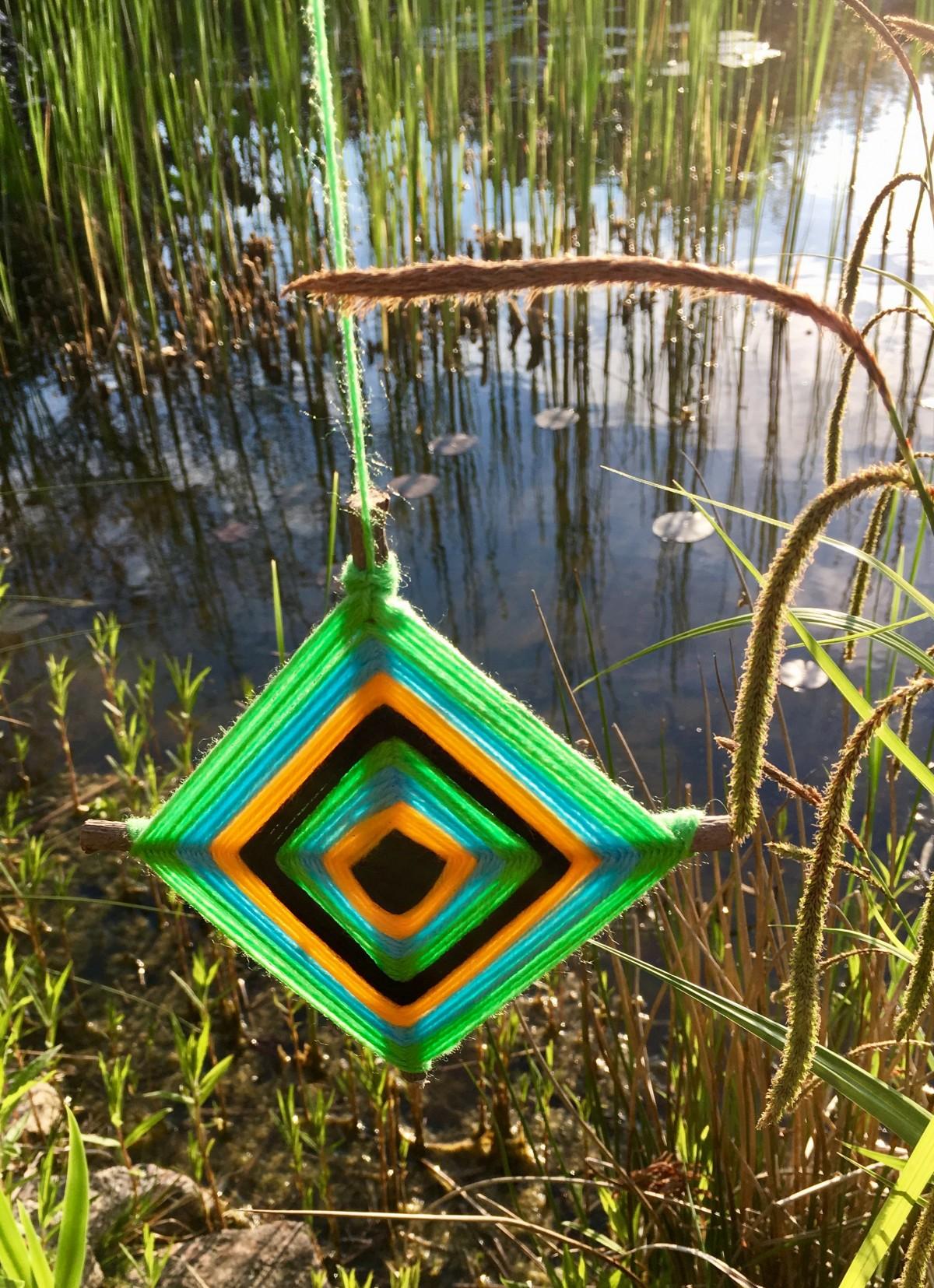 Das Auge Gottes - von den Huichol Indianern aus Mexiko - wacht und bringt Glück