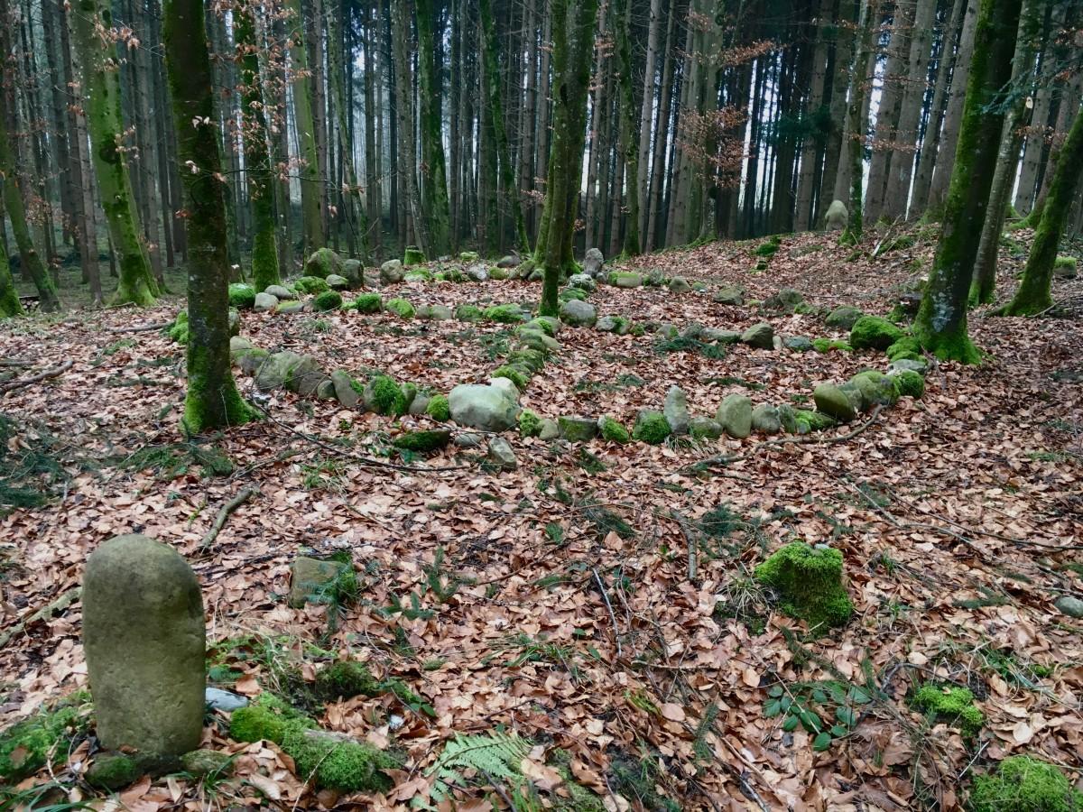 Medizinrad auf einem keltischen Grabhügel nahe Uster