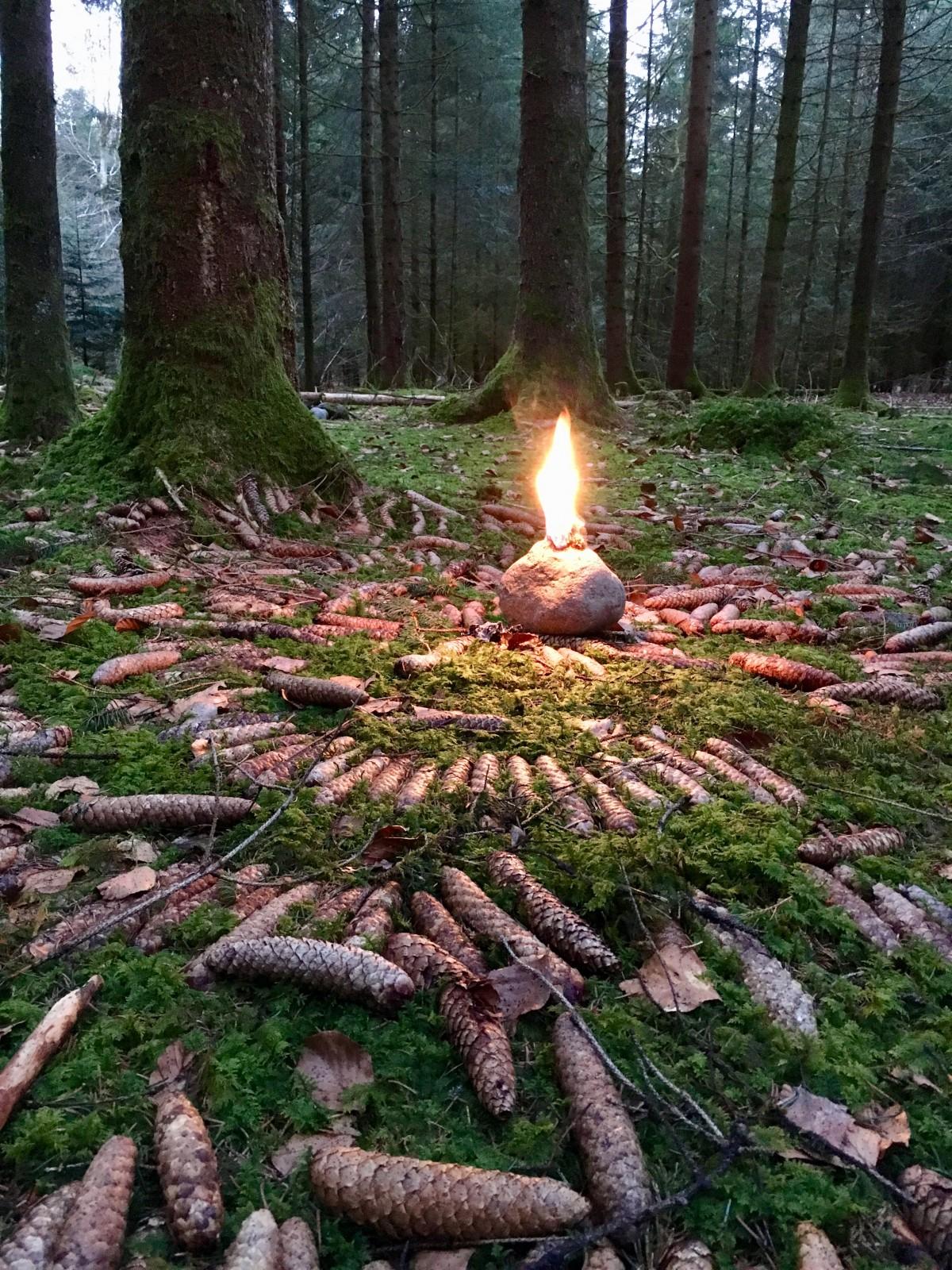 In einem Ritual zur Lösung eines Bannes