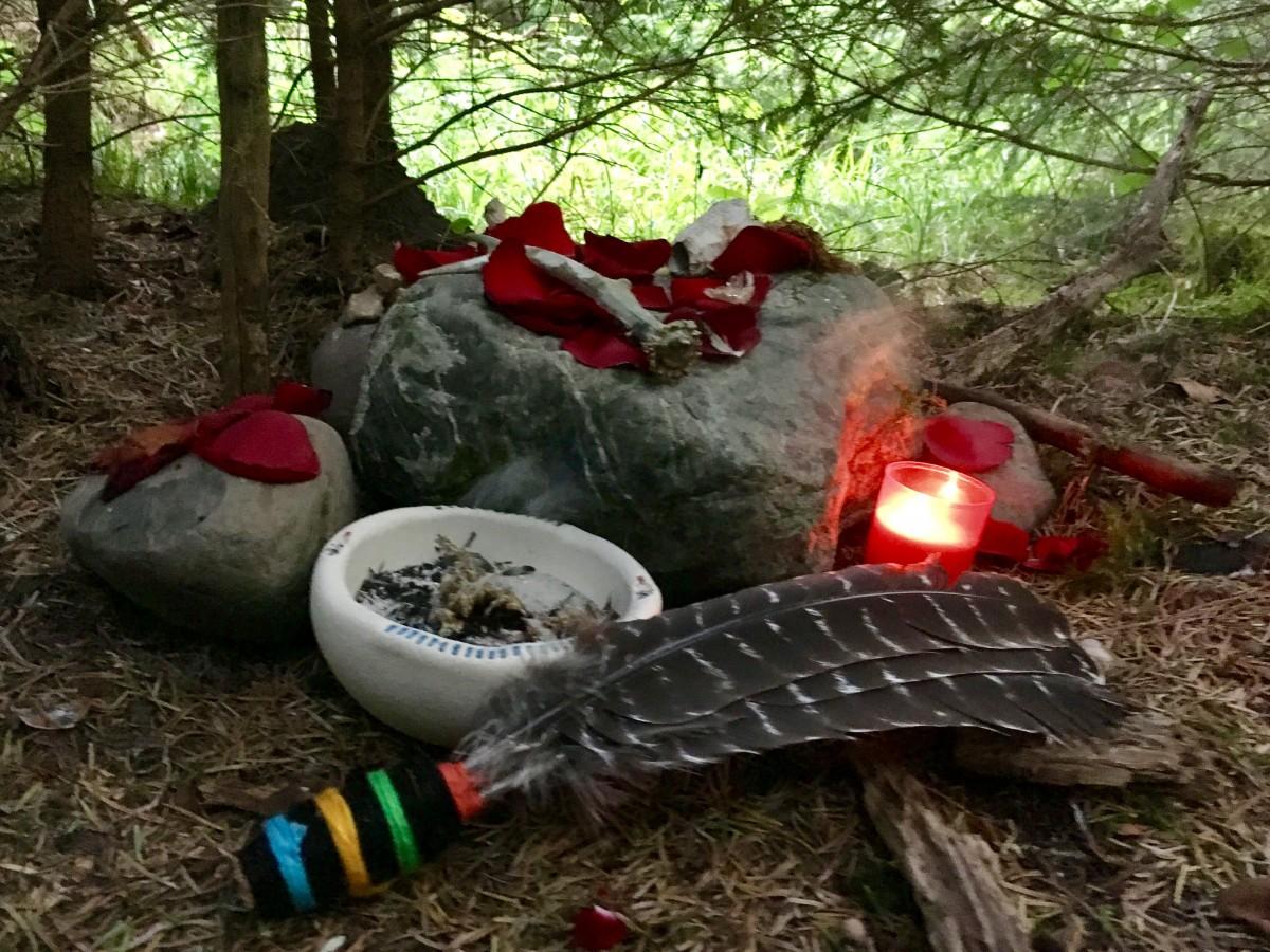 Altar in einem Sterberitual